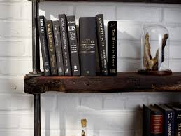 Making Wood Bookshelves by Industrial Rustic Bookshelf Hgtv