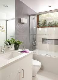 Bookshelves San Francisco by Walker Zanger Tile Bathroom Contemporary With White Floor San