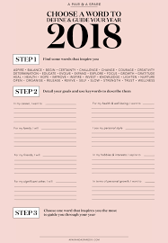 choosing a word to define guide your year 2018 edition a