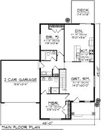 garage house floor plans story house plans with basement and car garage home desain 2