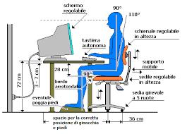 postura corretta scrivania corretta postura davanti a un videoterminale sicurezza al volterra