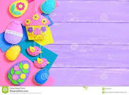 kids easter background handmade colorful felt easter crafts on