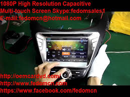 ct 7095 2 din 8 inch car dvd gps for hyundai elantra 2011 youtube
