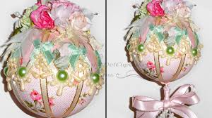 tutorial shabby chic ornament bauble