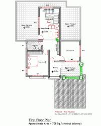 Home Design And Plans In India by Contemporary House Elevation And Plan At 2000 Sq Ft First Floor