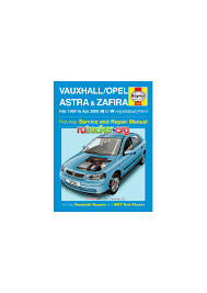 vauxhall astra and zafira petrol service and repair manual