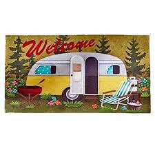 retro campers amazonsmile door floor mat retro rv camper rubber indoor outdoor