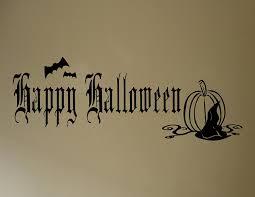 happy halloween text art amazon com halloween decoration wall decals happy halloween with
