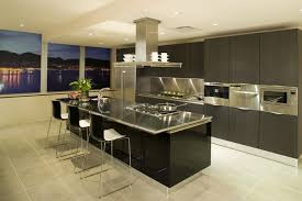 Kitchen Island Range Fantastic Black Kitchen Island With Stainless Steel Top And 5
