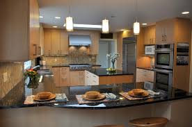 nice kitchen design island or peninsula u2014 railing stairs and