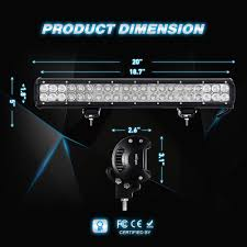 boat led light bar led light bar nilight 20 inch 126w led work light spot flood combo