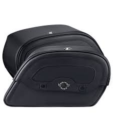 harley dyna super glide motorcycle saddlebags l warrior shock cut