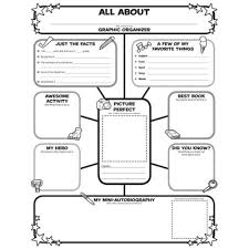 biography graphic organizer worksheets free best photos of student autobiography graphic organizer biography