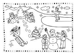 winter outdoor activities coloring page free printable 608557