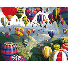 home decor air balloon frameless picture on wall acrylic