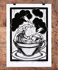 storm in a teacup storm in a tea cup lino by bourke nelly duff