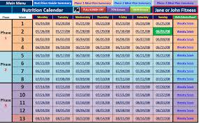 excel spreadsheet workout manager for p90x