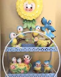 Kitschy Decor Lefton Cheery Bluebird Collection Original Ad Knick Knacks