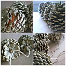 pinecone garland diy pinecone garland simply happenstance