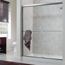 bathroom ideas of framed bathroom shower door with towel holder