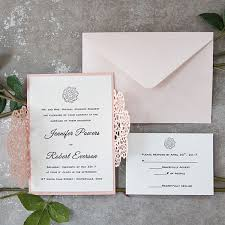 soft pink floral laser cut wedding invites ewws160 as low