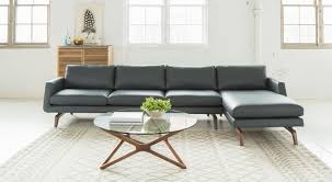 American Leather Sofas by Circle Furniture Nash Sectional Modern Sectional Leather