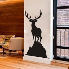 elk home decor elk vinyl wall decal caribou standing on a rock harvest wall
