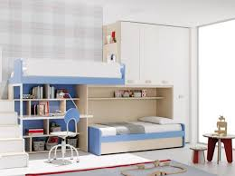 Modern Bunk Bed With Desk Modern Bunk Bed With Wardrobe And Ladder Furniture