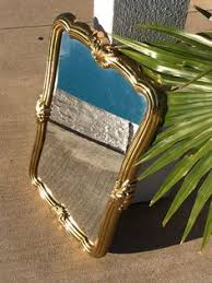 Home Interiors And Gifts Inc Vintage Black U0026 Gold Octagon Mirror Fleck Bros Ornate Wood