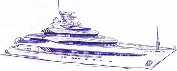 drawn yacht cruise ship pencil and in color drawn yacht cruise ship