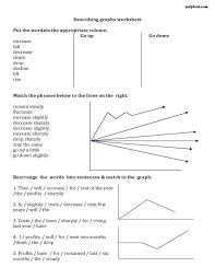 describing graphs vocabulary worksheet algebra pinterest