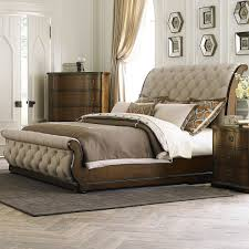 wood sleigh bed queen home furniture