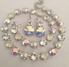 necklace swarovski crystals images Swarovski crystal neck shimmer multi color unique not sabika jpg