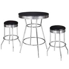 Glass Bar Table And Stools Coca Cola Pub Table And 2 Bar Stools Set Free Shipping Today