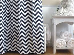 Chevron Pattern Curtains Appealing Chevron Pattern Curtains And Top 25 Best Navy Shower