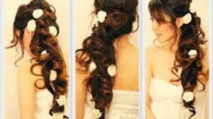 hairstyle 2016 female long hair romantic curly hairstyles updo for medium long hair tutorial