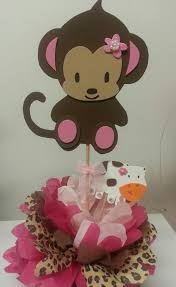 baby shower centerpieces girl monkey baby shower table decorations monkey jacanda safari