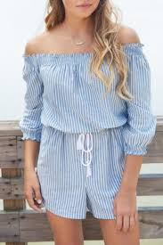 mud pie chambray off shoulder romper from florida by the stable