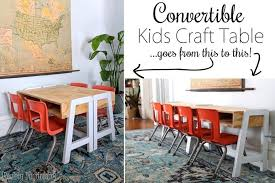 build a craft table convertible kids craft table tutorial free building plans