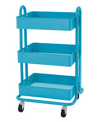 raskog home kitchen bedroom storage utility cart turquoise by