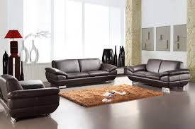 Set Sofa Modern Prestige Leather Sofa Set Chocolate Prestige Leather Chocolate