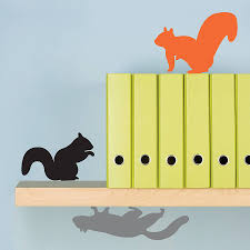 three packs of woodland animals wall stickers by lauren moriarty three squirrels wall stickers
