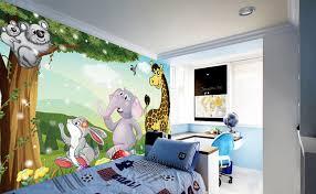 décoration murale chambre bébé tapisserie numérique sur mesure papier peint personnalisé