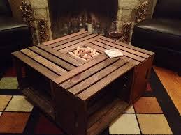 wine crate coffee table wine crate coffee table home improvement projects pinterest