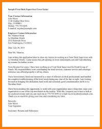 Front Desk Hotel Responsibilities 12 Hotel Front Desk Cover Letter Job Apply Letter