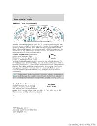 Ford Escape Engine Light - ford escape 2004 1 g owners manual