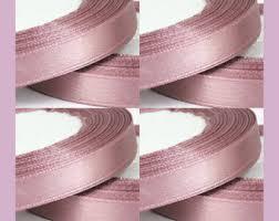 chagne satin ribbon pink ribbon etsy