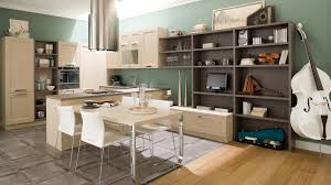 glamorous modern kitchen design with white island and cabinet