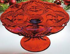 Red Cake Plate Pedestal Gorgeous Personalized Cake Stand W Glass Dome Included Gold