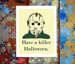 amazon com 2 pack jason u0026 michael myers halloween greeting